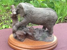 The Bronze Menagerie African Elephant by Carter Jones 1980 Royal Doulton Intl.