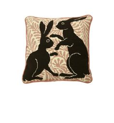 """De Morgan Hares"" These boxing hares, based on William De Morgan's tiles are a timeless classic."
