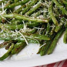 Recipe from Skinny Taste: http://www.skinnytaste.com/2011/11/roasted-parmesan-green-beans.html - Roasted Parmesan Green Beans