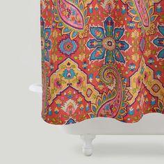 Phoebe Paisley Shower Curtain | World Market $23.99 duvet cover???