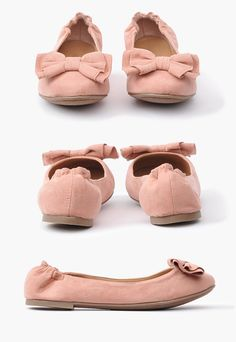 Cute pink bow flats! #pink #bow #fashion #cute #shoes #flats