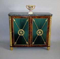 OnlineGalleries.com - Exceptional & Rare Regency Rosewood, Marble & Parcel Gilt Side Cabinet.