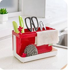 2 x Kitchen Expandable Grid Drawer Organizer Tray Case Divider Storage Box *** You can find out more details at the link of the image.