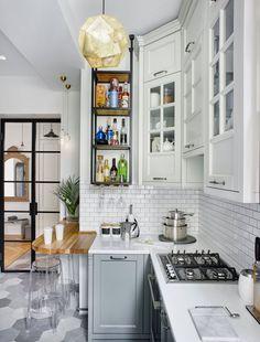 adelaparvu.com despre amenajare in stil francez apartament 72 mp, Moscova, designer Anna Kolpakova, Foto Dina Aleksandrova (10)