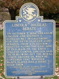 Lincoln-Douglas Debate Historical Marker, Galesburg, IllinoisAuthor: Seven StarsPhotos provided by Panoramio are under the copyright of their owners.