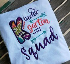 Kindergarten squad shirt Teacher shirt student shirt school
