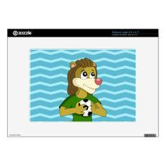 Cute lion cartoon netbook skin