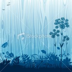 Florals on the wood Royalty Free Stock Vector Art Illustration