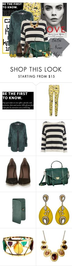 """""""Gigi New York"""" by mona07 ❤ liked on Polyvore featuring GiGi New York, Calla, Warehouse, Givenchy, Lanvin, Meghna Designs, Pannee and Style & Co."""