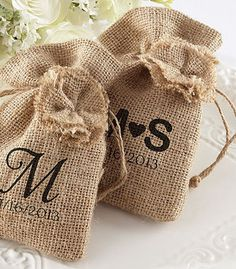 Personalized Favor Bags Set of 48 rustic wedding by MakeSpecially