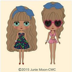 Cherry Beach Sunset- 2015 release Oh no, another cute one! Stop making Blythes that I want so close together! Pretty Art, Blythe Dolls, Paper Dolls, Cute Pictures, Decoupage, Disney Characters, Fictional Characters, Clip Art, Sunset