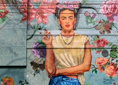 Frida Kahlo mural in Buenos Aires. The mural took the collective of three artists – Julián Campos Segovia, Jean Paul Jesses and Juan Carlos Campos – three weeks to paint using paint brushes and latex paint.