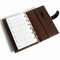Leather Notebook, Customized Logo Printings and Designs are Accepted, with Good Quality