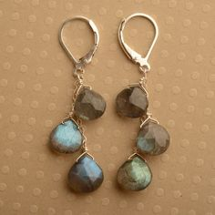 labradorite earrings long sterling silver earrings long by izuly, $79.00