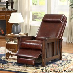@Overstock - Enhance your home decor with a black leather recliner chair  Recliner features frame crafted with mortise and tenon joinery    Living room furniture is stained in dark cherry colorhttp://www.overstock.com/Home-Garden/Chelsea-Black-Leather-Recliner-Chair/4463862/product.html?CID=214117 $469.99