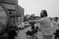 "September, 1983 — Director Francis Ford Coppola (and Mickey Rourke in the background) on the set of his 1983 movie ""Rumble Fish""  – Image by © Christian Simonpietri/Sygma/Corbis    *"
