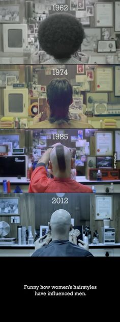 Hairstyles, over time