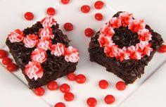 Striped Valentine Brownies