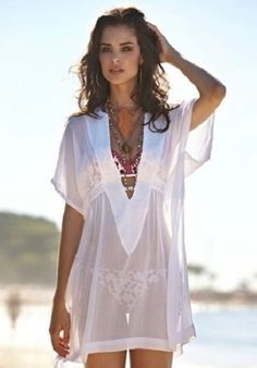 Swimwear Dress Cover Up Sexy Swimsuits 56 Ideas Boho Fashion, Fashion Dresses, Womens Fashion, Fashion 2016, Beach Fashion, 80s Fashion, Outfit Strand, Lingerie Fine, Moda Chic