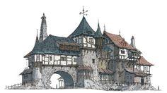 the Middle Age houses by HeNN - HeNN - CGHUB