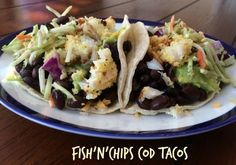fish'n'chips cod tacos | About Seafood