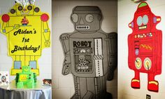 Mr. Roboto theme birthday party   from Project Nursery