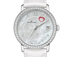 Saint Valentin 2014 features a red heart and two engraved hearts on the mother-of-pearl dial, and a row of diamonds along the bezel. The watch is a limited edition of 99 pieces. Dream Watches, Luxury Watches, Latest Watches, Watches For Men, Woman Watches, Fine Watches, Limited Edition Watches, Luxury Watch Brands, Beautiful Watches