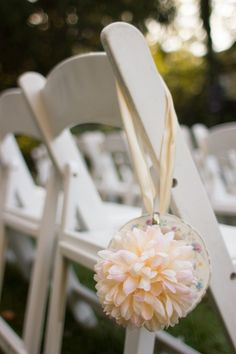 Blissfully Bossy: Ceremony Chair Teacup Decor #wedding #vintage Wedding Reception Chairs, Decor Wedding, Diy Wedding, Wedding Ceremony, Wedding Decorations, Wedding Ideas, Table Decorations, Teacup Decor, Wedding Vintage