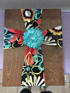 Cloth Cross on Wood