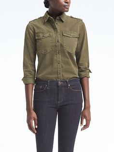 17d1b02b4908 Banana Republic Dillon-Fit Denim Utility Shirt Tailored Shirts, Work Shirts,  Denim Top