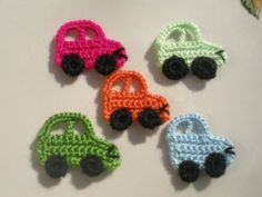 Crochet  APPLIQUE lovely automobile... van zeynepmelis op Etsy, $4,00