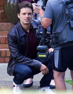 """Sebastian Stan on set for """"The Last Full Measure"""" in Atlanta on March 31st, 2017."""