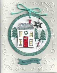 Ornament Card www.stampingwithlinda.com Make sure to check out my Stamp of the Month Kit Linda Bauwin – CARD-iologist  Helping you create cards from the heart.