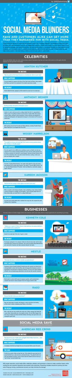 Social Media Blunders from Celebrities and Businesses #infographic