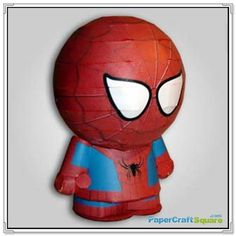 Park Heroes – Spider-Man Papercraft - cant find instructions but looks like it is made of paper lantern. Paper Mache Crafts For Kids, Paper Craft Making, Arts And Crafts, Spiderman, Paper Magic, 3d Paper, Paper Models, Paper Lanterns, Projects For Kids