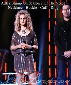 Adley Stump Season 2 of The Voice - Made all of her Jewelry - Necklace, Cuff, Ring, Buckle