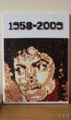 Michael Jackson Canvas Wall Art - hama perler beads - karen3367 Ebay