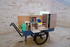 Co-design toolkit cart for the 'Oh My BUDA- project'. Inside the cart are materials to facilitate co-design processes, a process where people that are not trained as designers are invited to be creative in their own way and be part of a design proces.