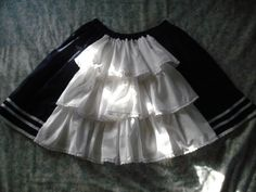 sew_loli: Epic Skirts Project ...Navy Sailor Bustle Skirt DONE!