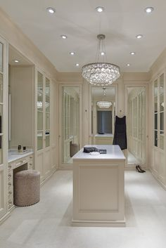 I like the idea of lots of mirrors. It makes the space feel brighter and larger.