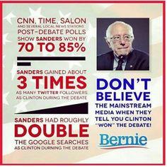 Don't let the media sway your vote! #BernieSanders2016 #FeelTheBern #feelthebern2016 #BernieForPresident2016