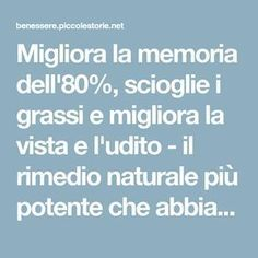 It improves the memory of melts fat and millet .- Migliora la memoria dell& scioglie i grassi e migliora la vista e l& It improves the memory of dissolves fat and improves vision and hearing – the most powerful natural remedy I& ever tasted! Wellness Tips, Health And Wellness, Health Fitness, Reflexology, Home Interior, Face And Body, Beauty Secrets, Beauty Tips, Natural Health