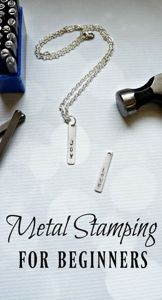 Metal stamping for beginners. Learn how to make your own custom jewelry with this step by step tutorial. #DiyCrafts