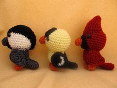 Backyard Birds Amigurumi Crochet Pattern
