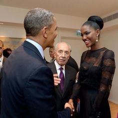 """President Obama met with Yityish Aynaw, the first Black Miss Israel during his visit to Israel this week. Yityish had this to say about our President:  """"I was influenced and inspired by Obama. Like him, I was also raised by my grandmother. Nothing was handed to me on a plate, and like him I also had to work very hard and long to achieve things in my life. To this day he inspires me just as he inspires the rest of the world."""""""