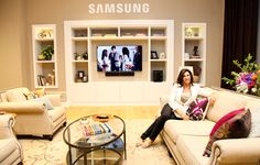 HGTV's Hilary Farr did a wonderful job transforming an empty building into the beautiful #SamsungHouse.