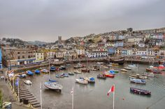 Inner harbour and Lower Brixham, Devon.  #tw  -  Paul Hutchinson - Google+