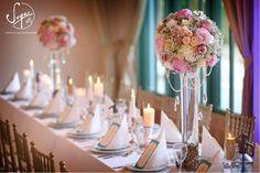 Sugar Flower - esküvői dekoráció | Habosbabos Esküvői Magazin Sugar Flowers, Ale, Candles, Table Decorations, Wedding, Home Decor, Valentines Day Weddings, Decoration Home, Room Decor