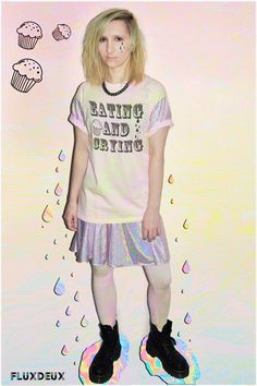 FLUXDEUX 90s REALNESS PASTEL GOTH GRUNGE AND METALLIC CLOTHING. #kawaii #topshop #pastelgoth #pastelgrunge #metallic #cute #fashion # tiedye #90s #90sfashion #ss14