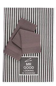 3 PACK MR GOOD LOOKING TEA TOWELS